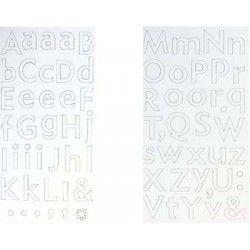 alphabet autocollant carton blanc