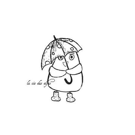 Challenge d'avril Oiseau-parapluie-tampon-nm