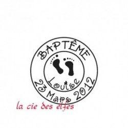 tampon bois sur mesure baptême