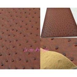 plaque faux cuir marron foncé