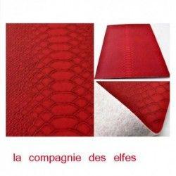feuille faux cuir rouge