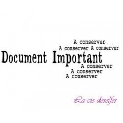 Document Important A conserver tampon nm