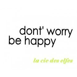don't worry be happy tampon nm