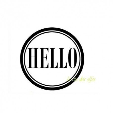 Pocket letter de Sandrine. Hello-tampon-nm