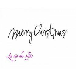 tampon BOIS Merry Christmas