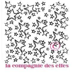 Tampon encreur étoile | timbre étoile | estampe fimo | stars stamp