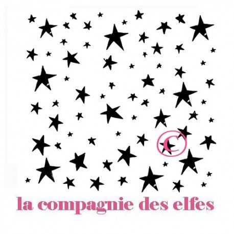 les étoiles de Manuela | tampon étoile scrap | tampon scrapbooking étoile | star stamp