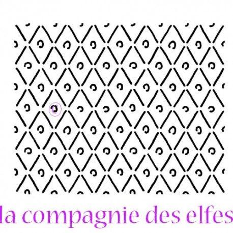 Sketch scrap / carte par Sandrine Triangles-et-pois-special-fimo-et-fonds-tampon-caoutchouc-non-monte