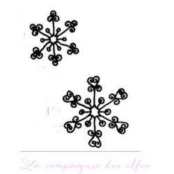 cristaux de neige - tampon non monté