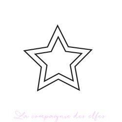 tampon étoile à découper 4 en 1- nm