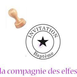 Tampon invitation | tampon personnalisé invitation