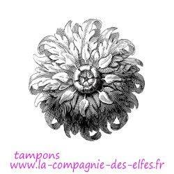 Tampon floral baroque | grand tampon baroque