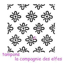 TAMPON fond texture fleurs - non monté