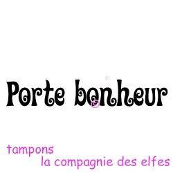 Tampon porte bonheur | hapiness stamp | glück stempel