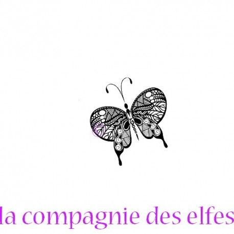 Butterfly stamp | papillon | tampon encreur papillon