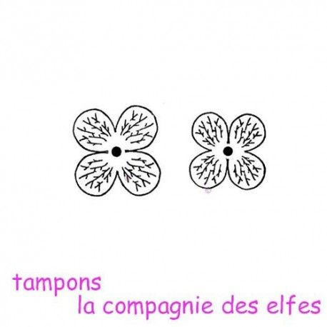 Tampon hortensia | achat tampon fleur
