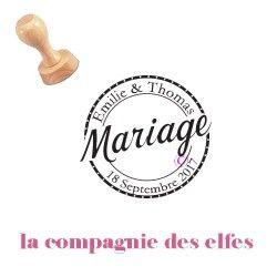 tampon encreur mariage personnalisé | tampon encreur mariage