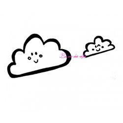 tampon duo nuages - non monté