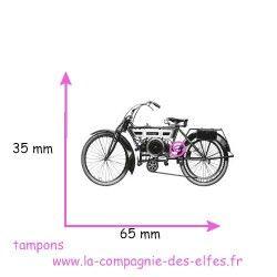 tampon moto vintage - non monté