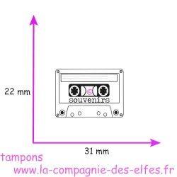 TAMPON cassette souvenirs - non monté petit modèle