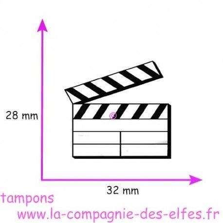 TAMPON clap cinéma - non monté petit modèle