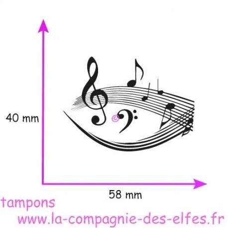 tampon notes musique - non monté