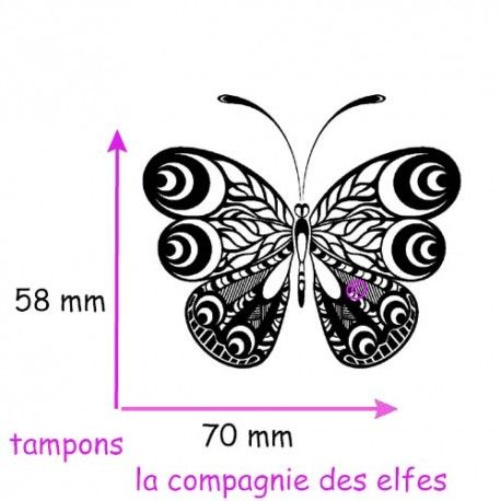 butterfly rubber stamp   tampon scrap papillon   étampe papillon