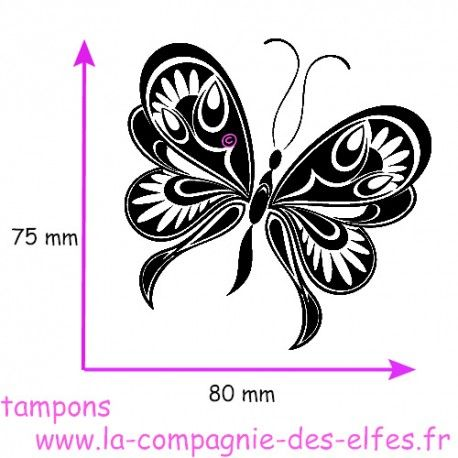butterfly rubber stamp | acheter papillon tampon