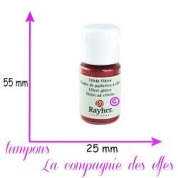 poudre rayher | poudre rouge | paillette rouge