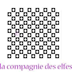 Tampon géométrique | geometric rubber stamp