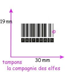 tampon code barre | code barre fait main | tampon fait main