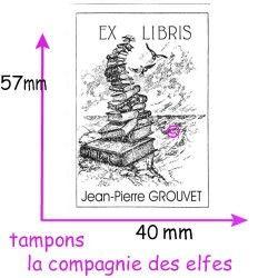 tampon bois ex libris
