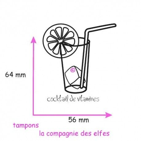 tampon cocktail de vitamines - non monté
