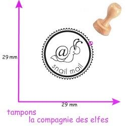 Tampon art postal snail mail