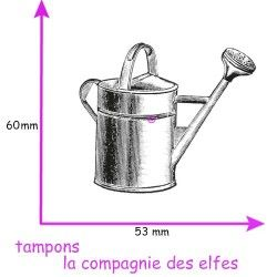 watering can rubber stamp | tampon encreur arrosoir
