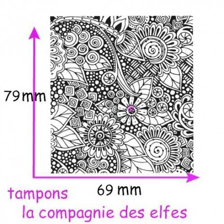 Tampon fleur texture | tampon pour fimo | fimo stamp | cernit stamp