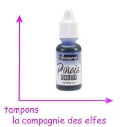 encre alcool bleu sapphire