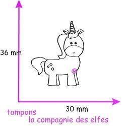 TAMPON Licorne - non monté