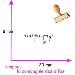 Tampon pour marque page | marque page