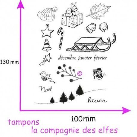 Tampon scrapbooking hiver | tampon janvier février décembre | acheter tampon scrap