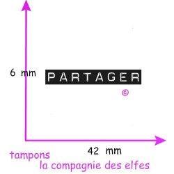 tampon PARTAGER - non monté
