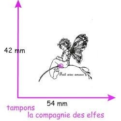 Tampon scrapbooking elfe | tampon encreur elfe