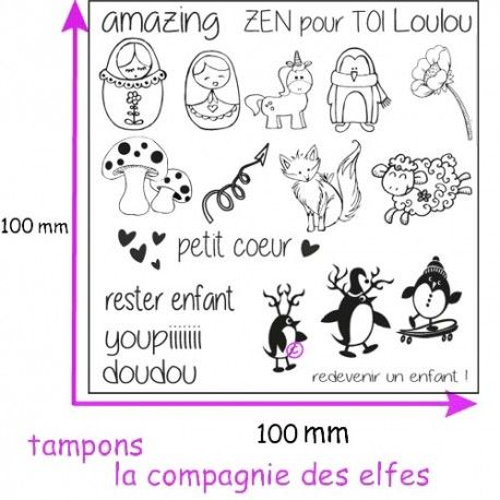 Challenge scrap du 26 Juin 2017 Plaque-tampons-mini-kawaii-fimo-scrap