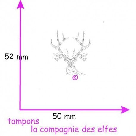 tampon cerf origami