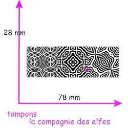 tampon texture patchwork fimo polymère - non monté