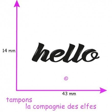 tampon hello |hello rubber stamp | tampon pas cher