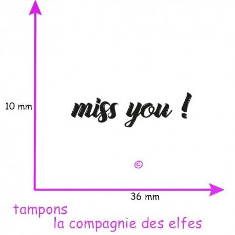Tampon miss you | miss you rubberstamp