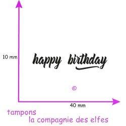 tampon happy birthday, non monté