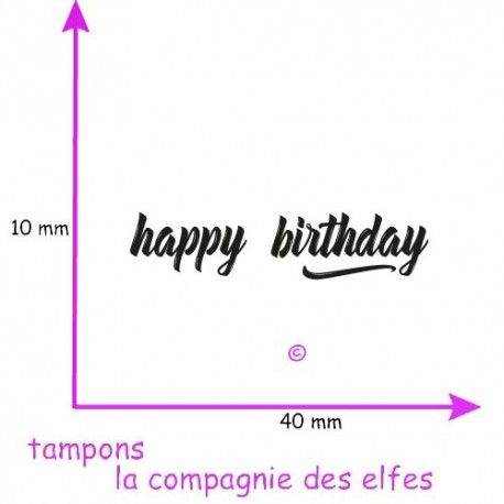 tampon happy birthday | happy birthday stamp