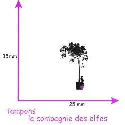 tampon encreur chat | tampon encreur arbre